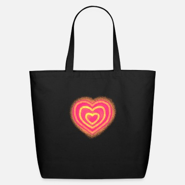 red heart - Eco-Friendly Tote Bag