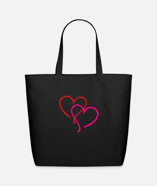Sweetheart Bags & Backpacks - Hearts - Eco-Friendly Tote Bag black