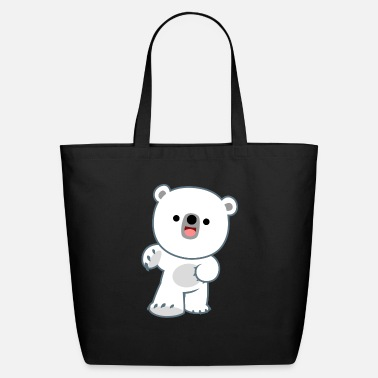 Cute Happy Polar Bear Cub by Cheerful Madness!! - Eco-Friendly Tote Bag
