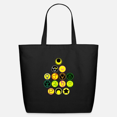 Moon Sailor Scouts and the Moon Symbols - Eco-Friendly Tote Bag