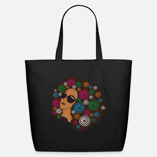 History Bags & Backpacks - Big Bold Afro - Eco-Friendly Tote Bag black