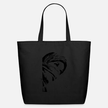 Muslin Girl wearing head scarf - Eco-Friendly Tote Bag