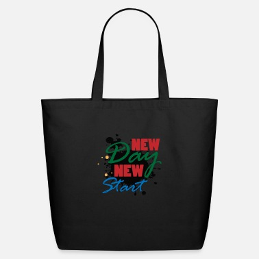 Powerslogan New day start motivation winner gift idea present - Eco-Friendly Tote Bag
