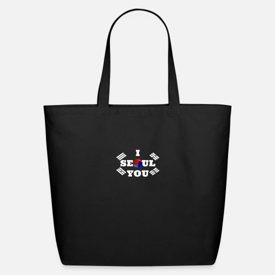 Love Bags & Backpacks - I Seoul you - Eco-Friendly Tote Bag black