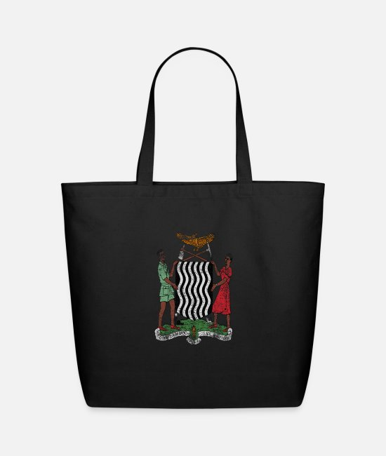 Arms Bags & Backpacks - Zambian Coat of Arms Zambia Symbol - Eco-Friendly Tote Bag black