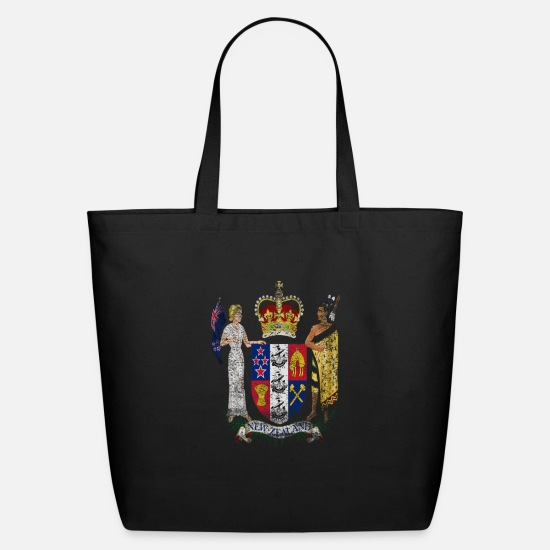 New Bags & Backpacks - New Zealander Coat of Arms New Zealand Symbol - Eco-Friendly Tote Bag black