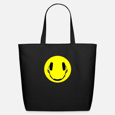 Smiley Headphones Headphones smiley - Eco-Friendly Tote Bag