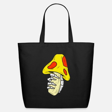 Mushroom And Hand Skull - Eco-Friendly Tote Bag