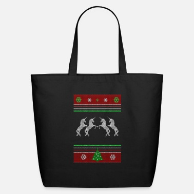 Ugly Ugly Unicorn Christmas Sweater - Eco-Friendly Tote Bag