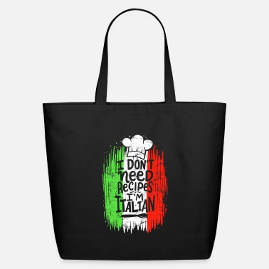 Head Cook I Don't Need Recipes I'm Italian Chef Cook Cooking - Eco-Friendly Tote Bag