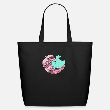 Beach Japanese pastel kawaii anime meme surf beach wave - Eco-Friendly Tote Bag