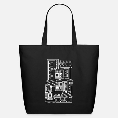 Circuit Technical circuit | board circuit design template - Eco-Friendly Tote Bag