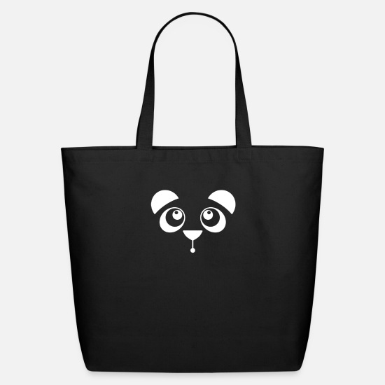 Awesome Bags & Backpacks - panda fun - Eco-Friendly Tote Bag black