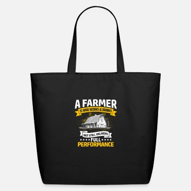 Farmer Shirt - Tractor - Performance - Eco-Friendly Tote Bag