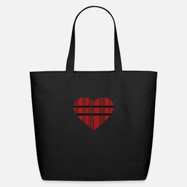 Provocation barcode love 2c - Eco-Friendly Tote Bag