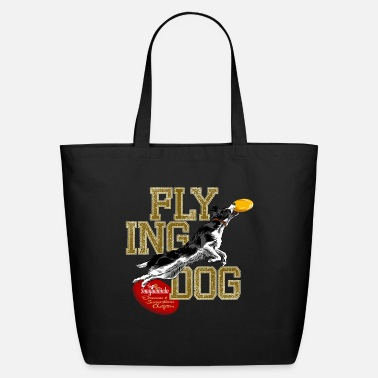 Agility border collie disc dog - Eco-Friendly Tote Bag
