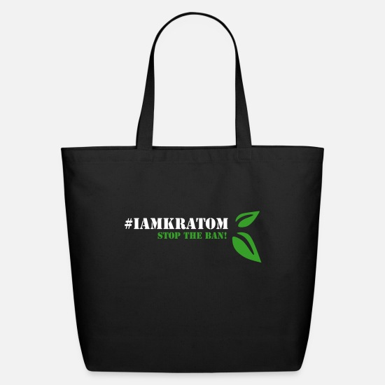 Kratom Bags & Backpacks - Kratom - STOP THE BAN 3 - Eco-Friendly Tote Bag black