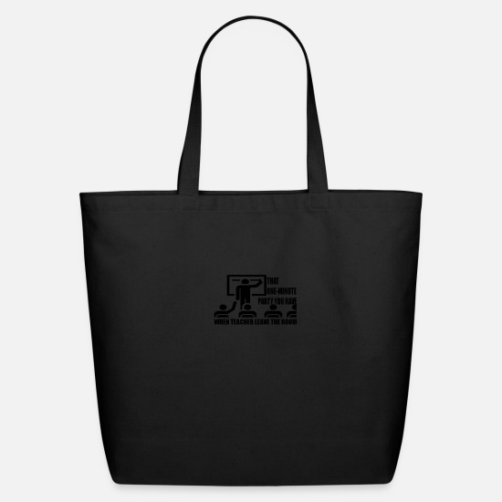 Party Bags & Backpacks - One minute party - Eco-Friendly Tote Bag black