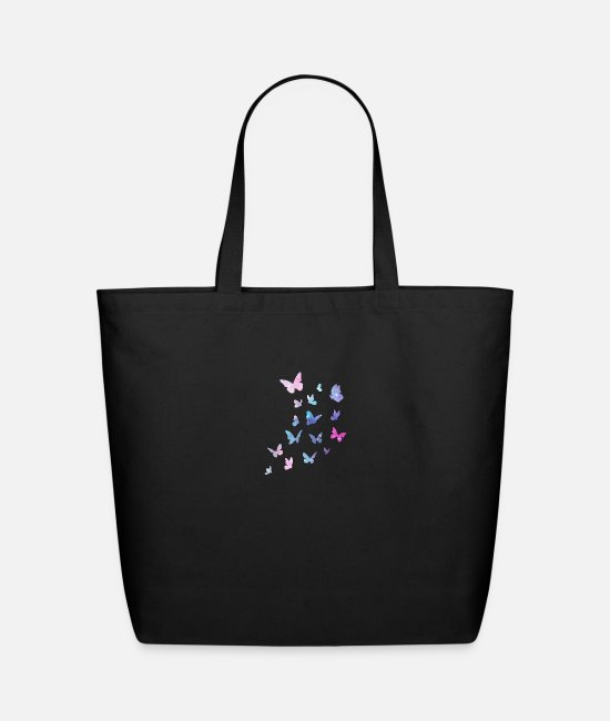 Dream Bags & Backpacks - Butterflies Colorful Butterfly - Eco-Friendly Tote Bag black