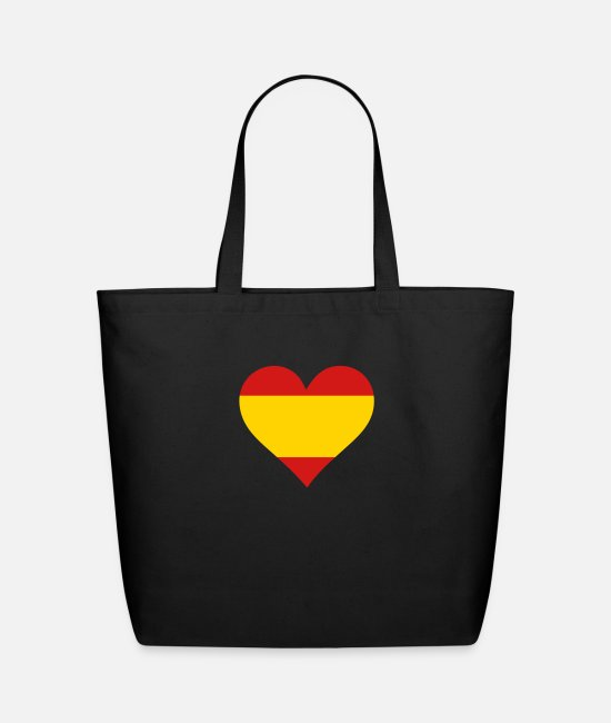 Don Quijote Bags & Backpacks - A Heart For Spain - Eco-Friendly Tote Bag black