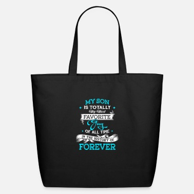 Father And Son Superman My Son Is Totally My Most Favorite Guy T Shirt - Eco-Friendly Tote Bag