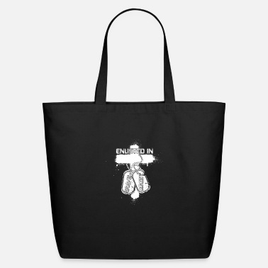Enlisted Enlisted in god's and army - Eco-Friendly Tote Bag