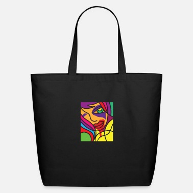 Vivid Color Contest Vivid Color Colorful Drawing Painting Gift Idea - Eco-Friendly Tote Bag