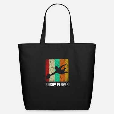 Rugby Retro Style Vintage Rugby Player Cool Silhouette - Eco-Friendly Tote Bag