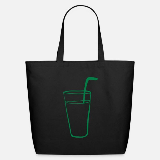 Glass Bags & Backpacks - Glass with a straw in a fizzy drink - Eco-Friendly Tote Bag black