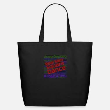 Real Men Square Dance Light - Eco-Friendly Tote Bag
