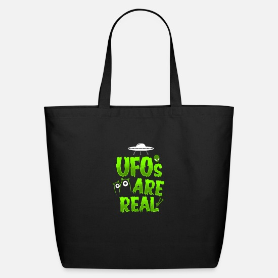 New World Order Bags & Backpacks - Ufos are Real - Eco-Friendly Tote Bag black
