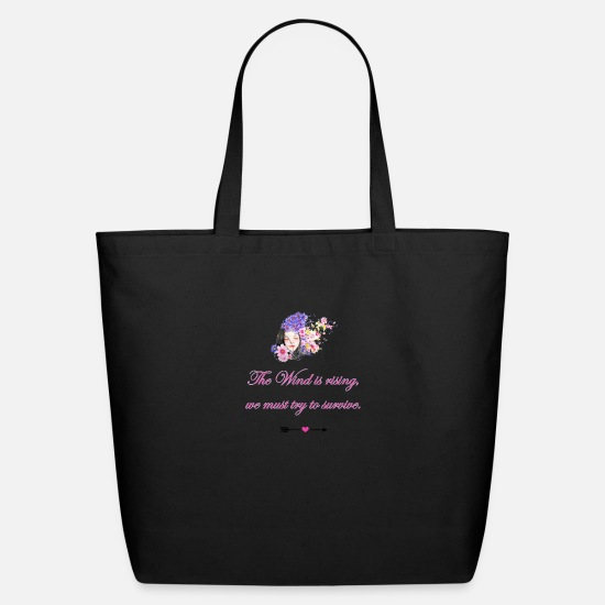 Hippie Bags & Backpacks - flower girl - Eco-Friendly Tote Bag black