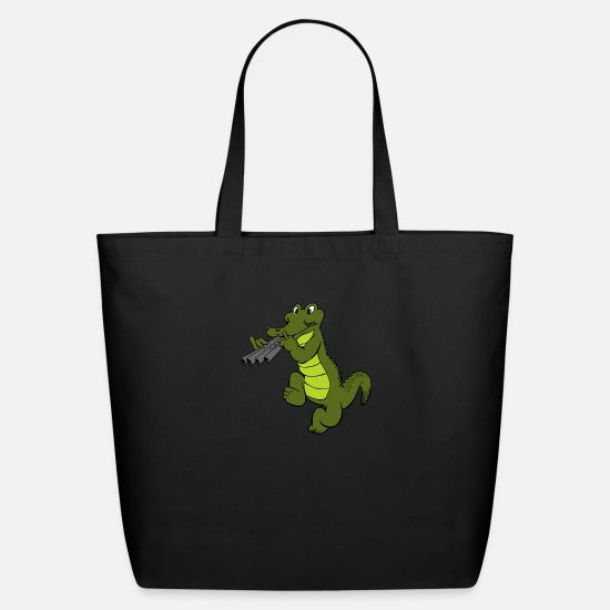 Swamp Bags & Backpacks - kroko 83 - Eco-Friendly Tote Bag black
