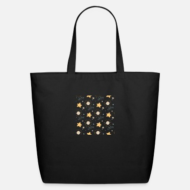 Octagon Pattern star moon - Eco-Friendly Tote Bag