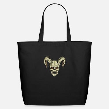 Horns Skull with horns horned skull - Eco-Friendly Tote Bag