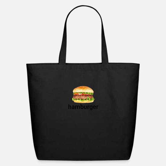 Meme Bags & Backpacks - Hamburger Dank Meme - Eco-Friendly Tote Bag black