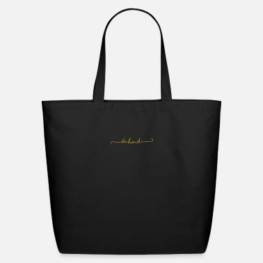 Script Be Kind - Modern Script in Yellow Black for - Eco-Friendly Tote Bag