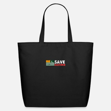 Region Save Kashmir - Azaad Kashmir Distressed Vintage - Eco-Friendly Tote Bag