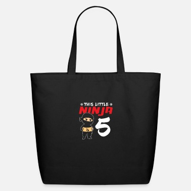 Turn This Little Ninja Is Turning 5 Birthday Giftidea - Eco-Friendly Tote Bag
