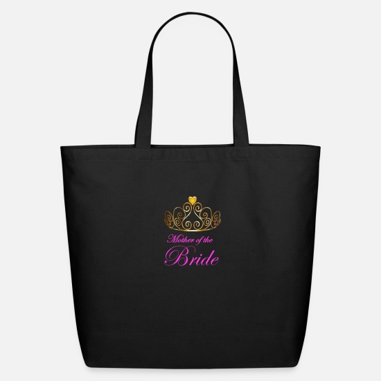 Bride Bags & Backpacks - Mother of the Bride with golden crown - Eco-Friendly Tote Bag black