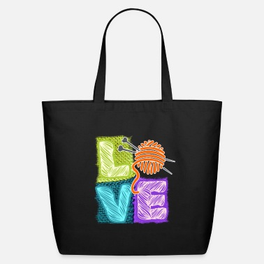 I love knitting crochet sewing yarn needle - Eco-Friendly Tote Bag