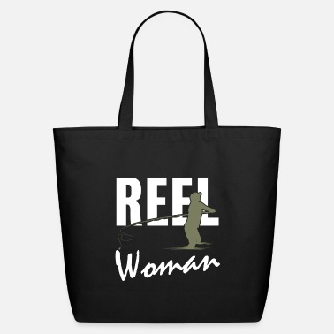 Meme Reel Woman Funny Fishing Gifts - Eco-Friendly Tote Bag