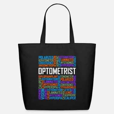Cloud Optometrist Words - Eco-Friendly Tote Bag