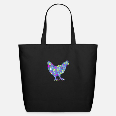 Farm Chicken Flower Pattern Cute Farm Animal Gifts - Eco-Friendly Tote Bag