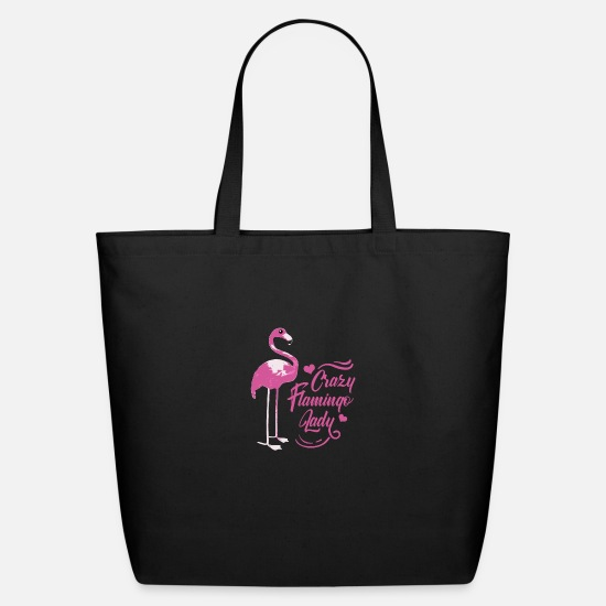 Pink Bags & Backpacks - Flamingo Pink Bird Animal Trend Flamingoe Gift - Eco-Friendly Tote Bag black