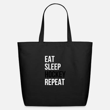 Mask Eat Sleep Hockey Repeat - Eco-Friendly Tote Bag