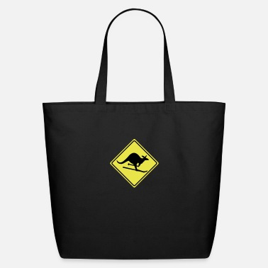 Witty roadsign kangaroo - Eco-Friendly Tote Bag