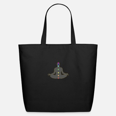 Meditation Chakra Meditation and chakra colors - Eco-Friendly Tote Bag
