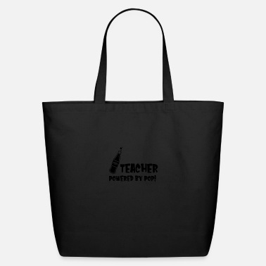 Chic TEACHER POWERED BY POP - Eco-Friendly Tote Bag