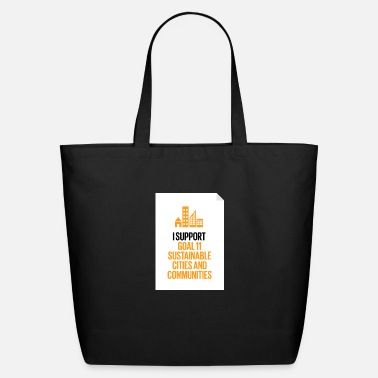 Global goal 11 sustainable cities and communities - Eco-Friendly Tote Bag